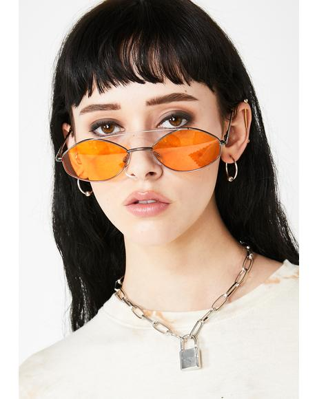 Juicy Stealth Moves Oval Sunglasses