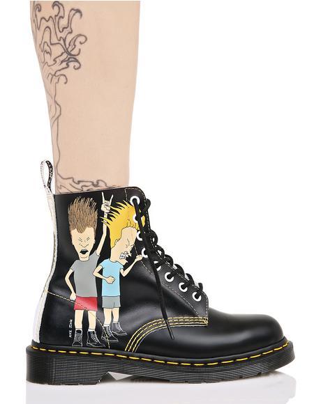 Beavis & Butthead Pascal 8 Eye Boots