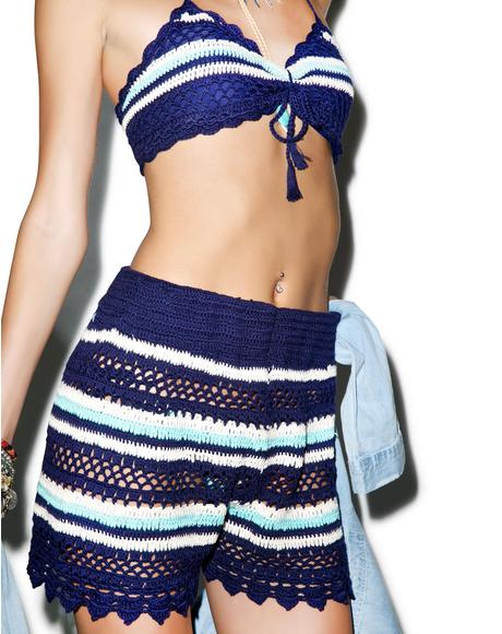 Drumbeat Crochet Shorts