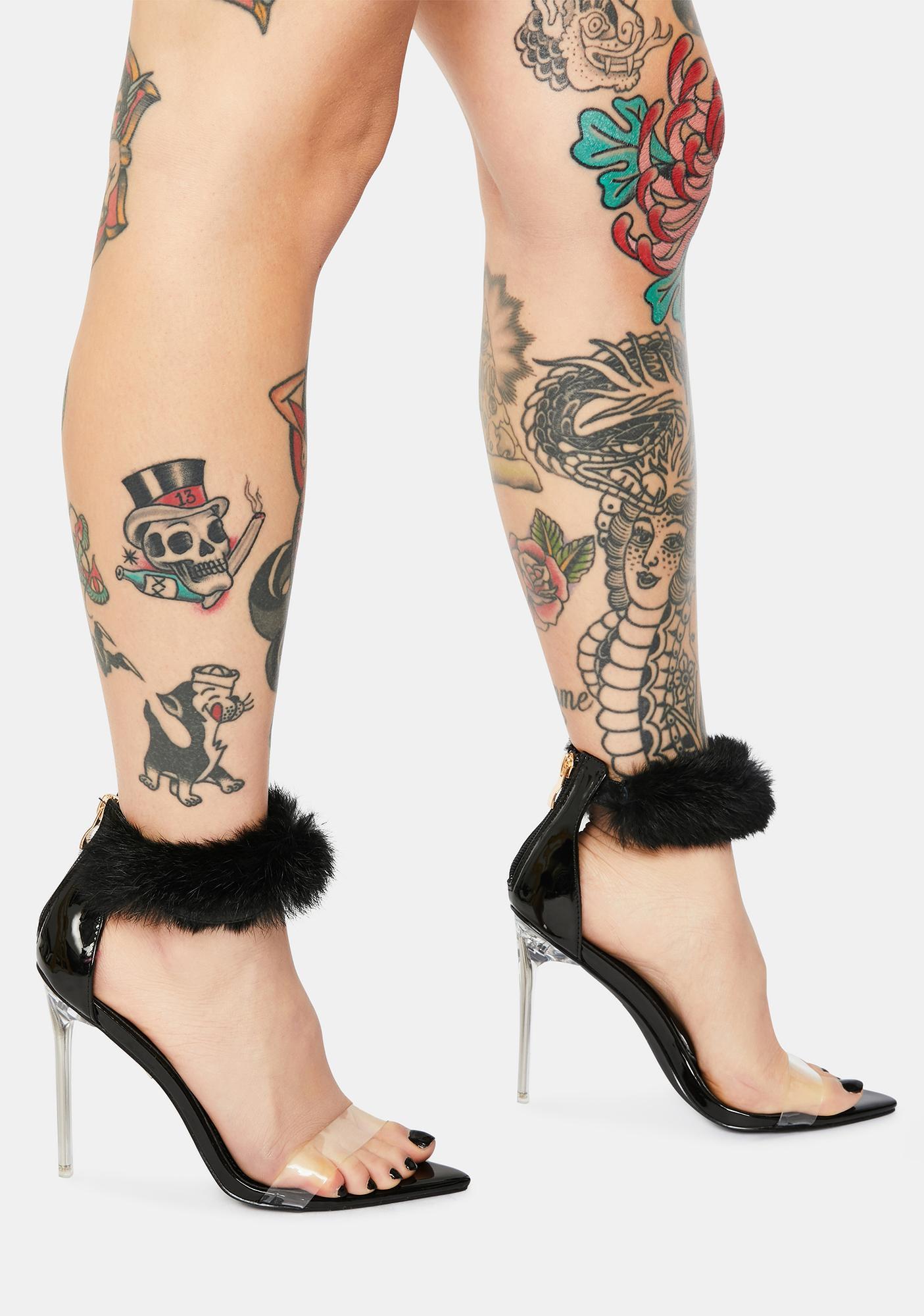 Classy Act Faux Fur Heels