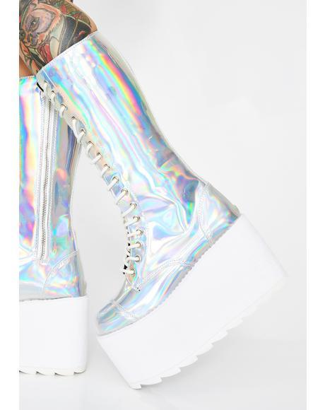 Hologram Bloq Boots