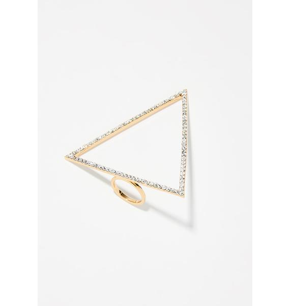 Love Triangle Sparkle Ring