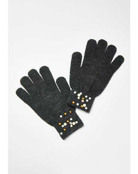 Pinkys Up Pearl Gloves