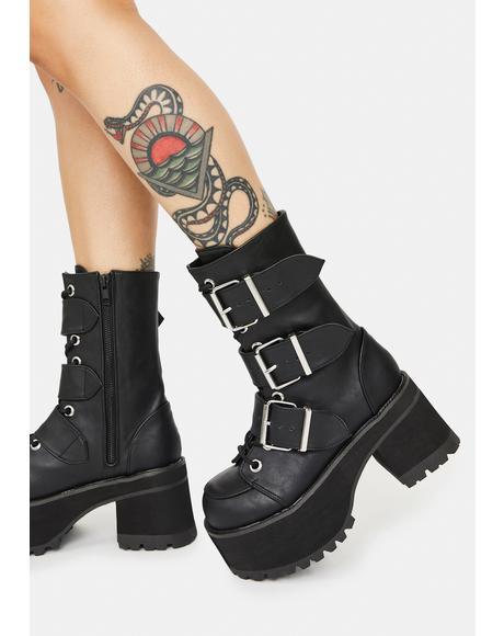 Ranger Platform Ankle Boots