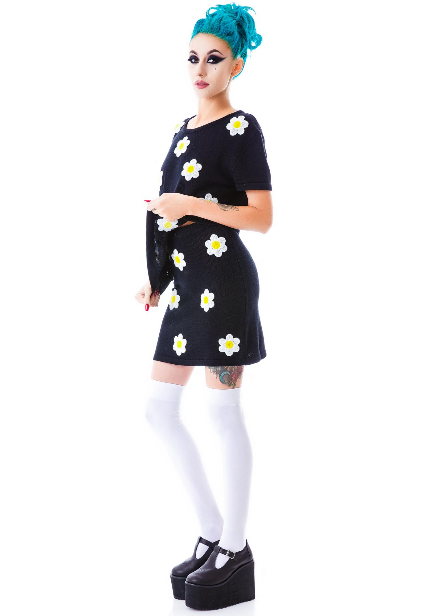 Sunless Garden Knit Skirt
