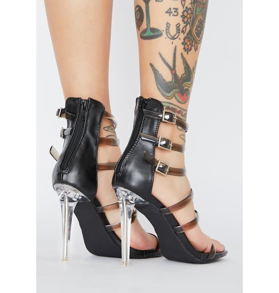 Dark Unicorn Horn Clear Heels