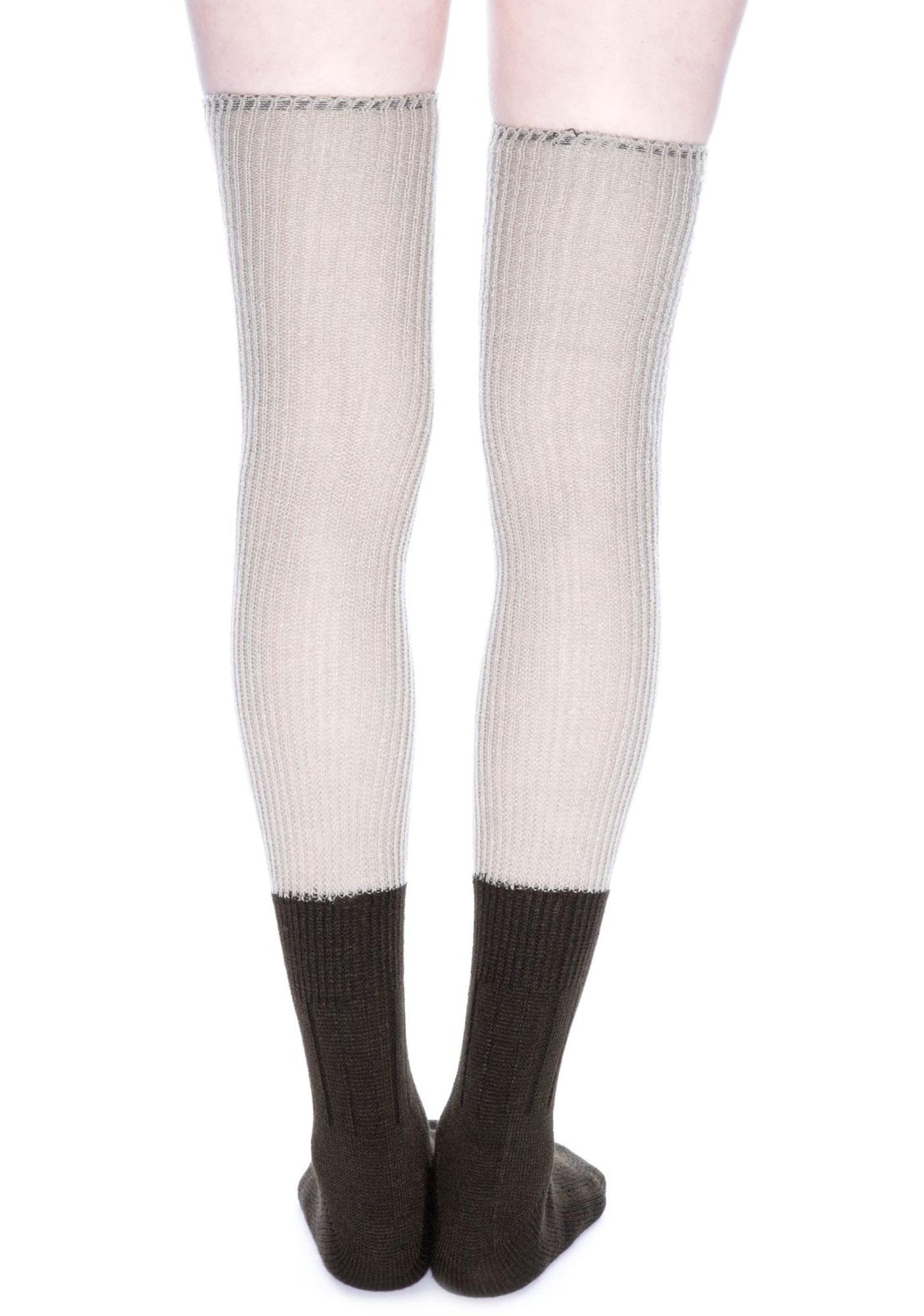 Plush Knit Thigh High Socks