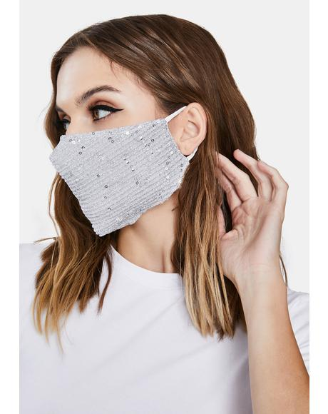 Hidden Smile Sequin Face Mask