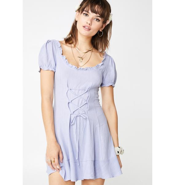 Lilac Prairie Babe Babydoll Dress