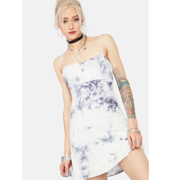 Take A Hit Tie Dye Open Back Mini Dress