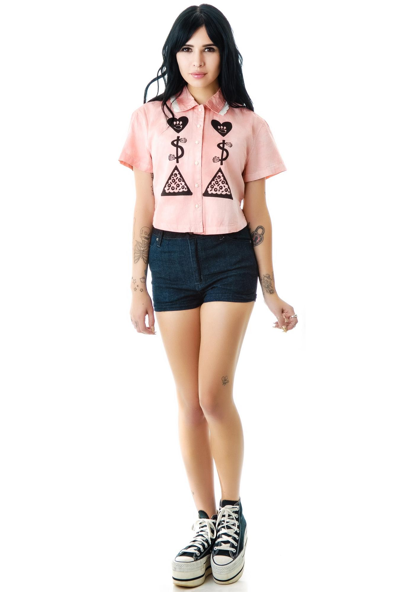 Lazy Oaf Love, Money Pizza Shirt