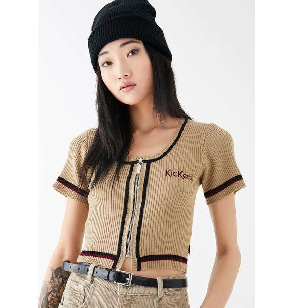 Kickers Cropped Knitted Top
