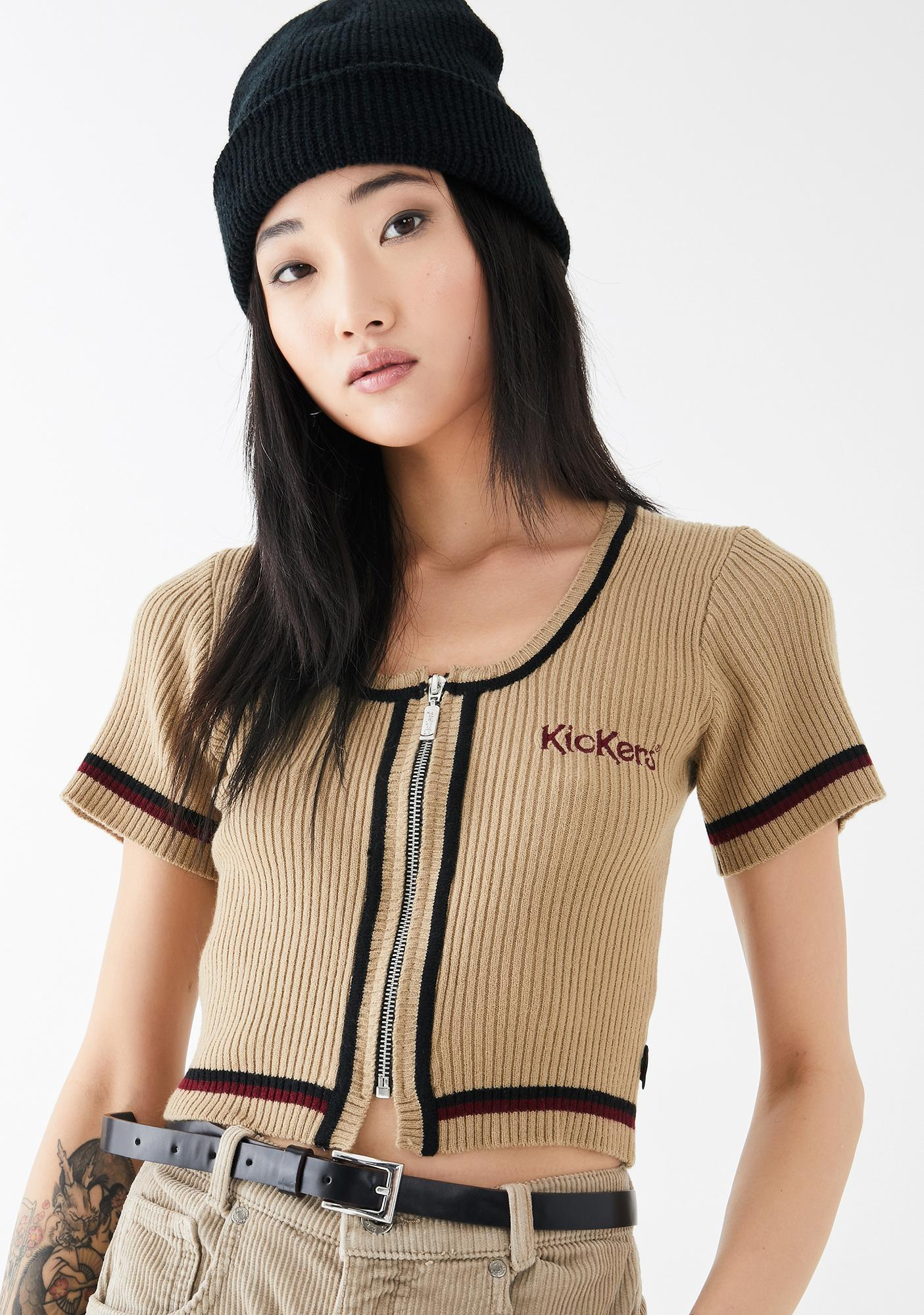 Cropped Knitted Top by Kickers