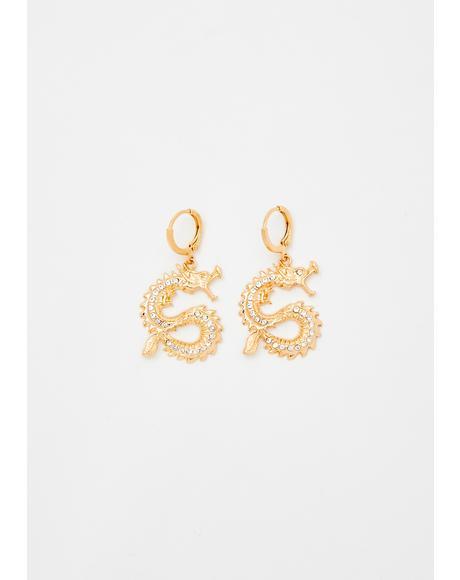 Tamed Beasts Dragon Earrings