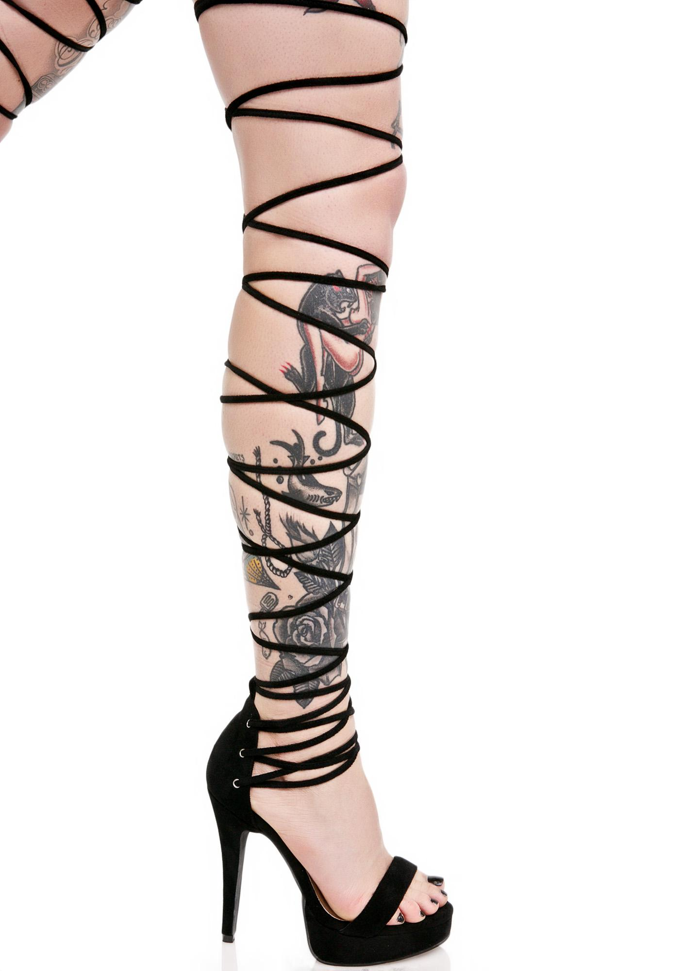 Current Mood Vixen Lace-Up Heels