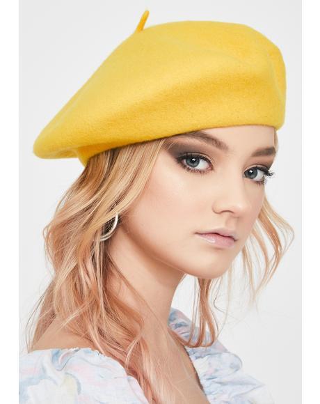 Mustard Yellow Jessie Beret