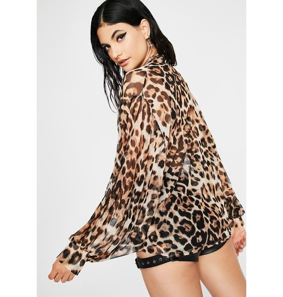 Total Catch Sheer Blouse