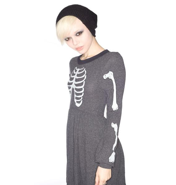 Wildfox Couture Skeleton London Baby Doll Dress