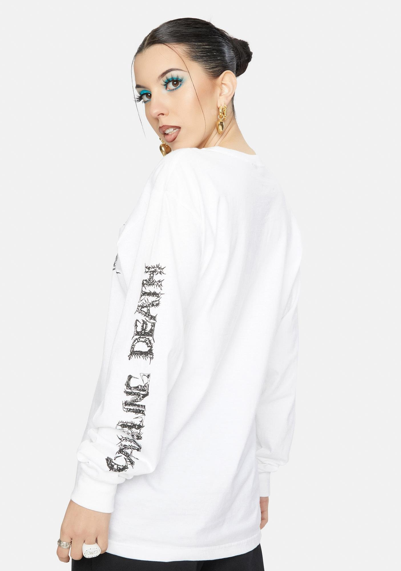 Crawling Death Parasite Skull Long Sleeve Tee