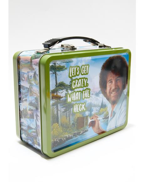 Bob Ross Tin Lunch Box