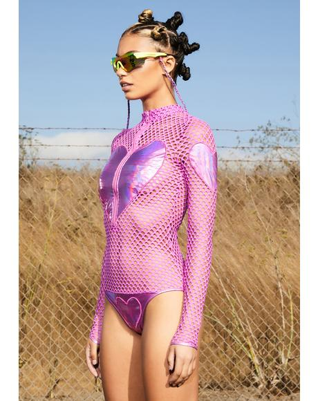 Bubble Pop Electric Fishnet Bodysuit