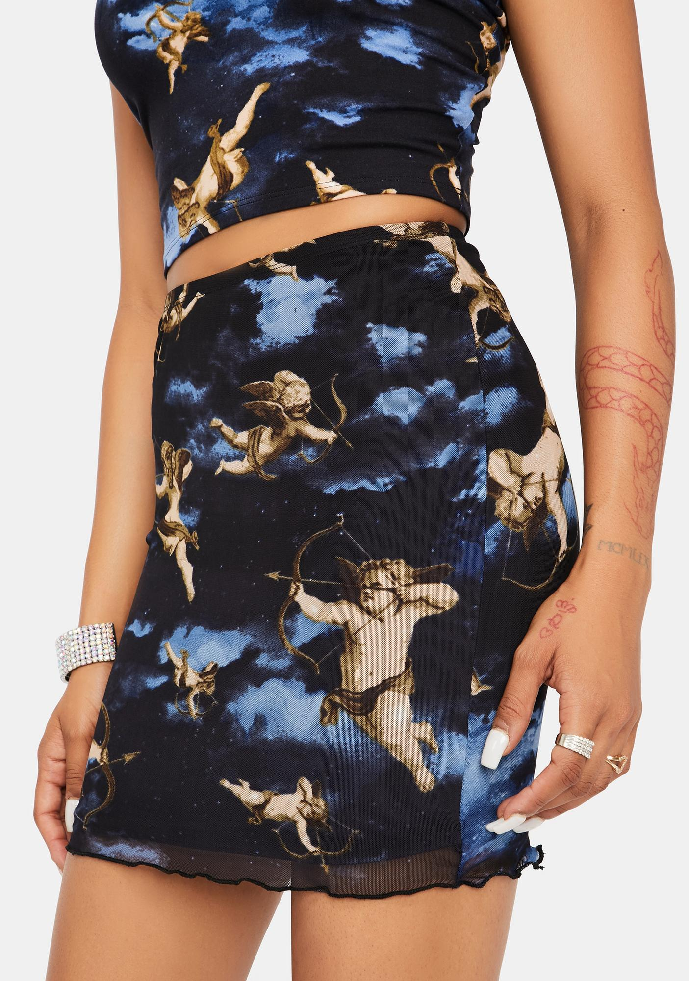 Eros Above Cupid Mini Skirt