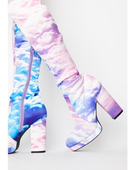 Heaven's Calling Thigh High Boots