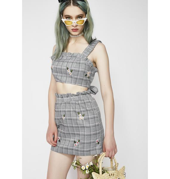 Bad Intentions Plaid Skirt
