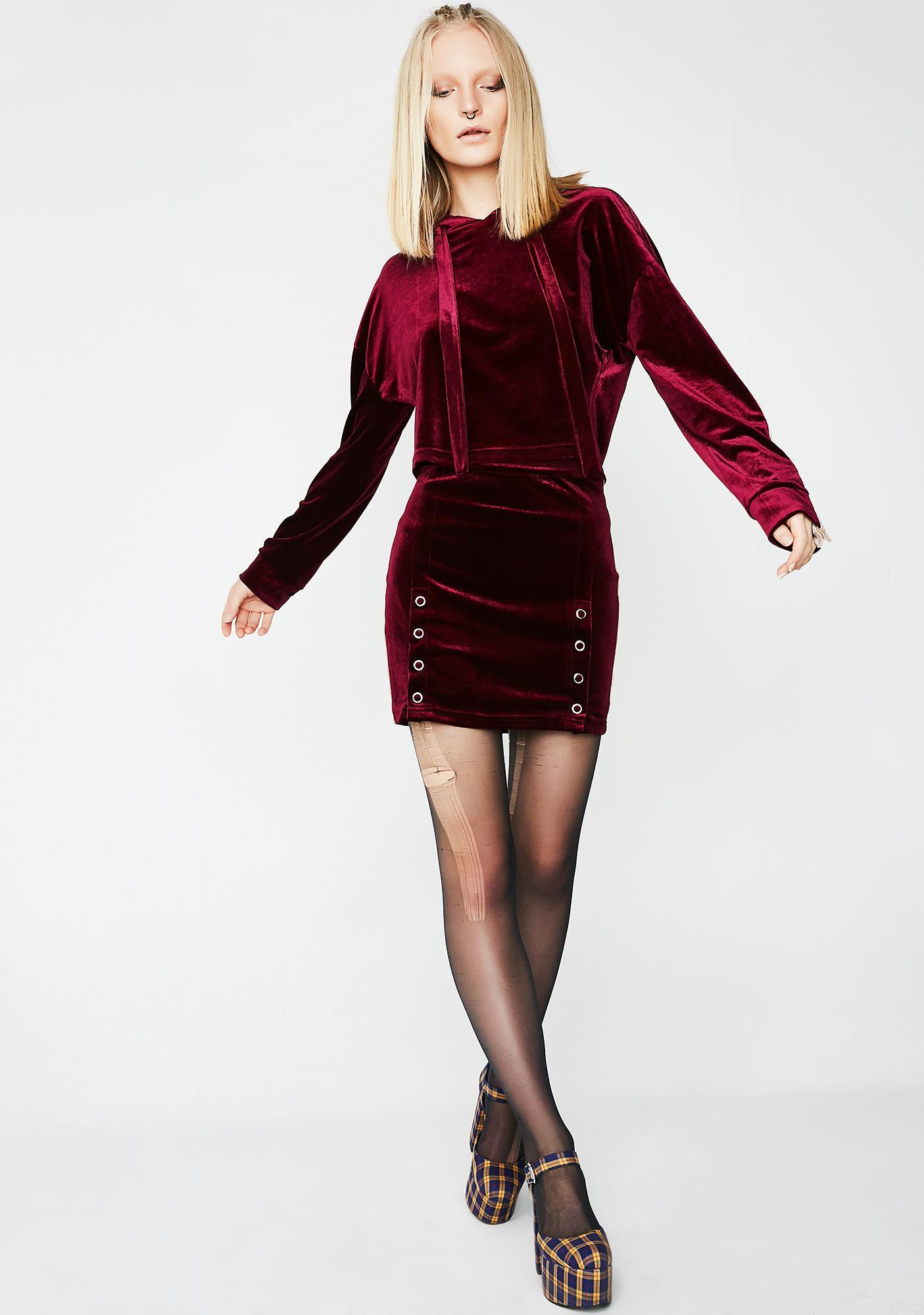 Snappin' Back Mini Skirt