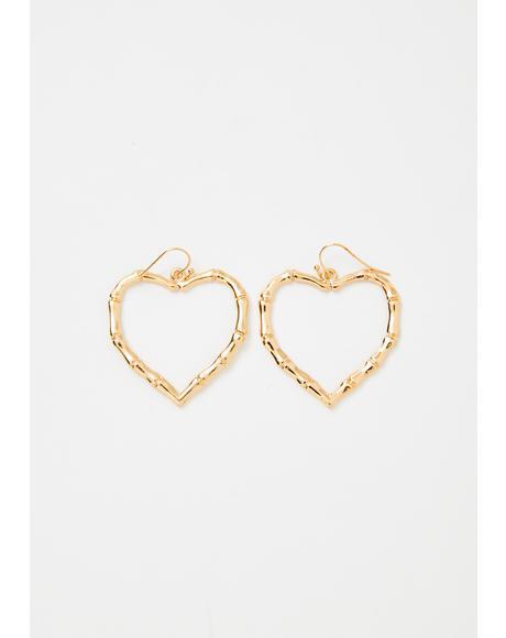 Tough Lover Heart Earrings