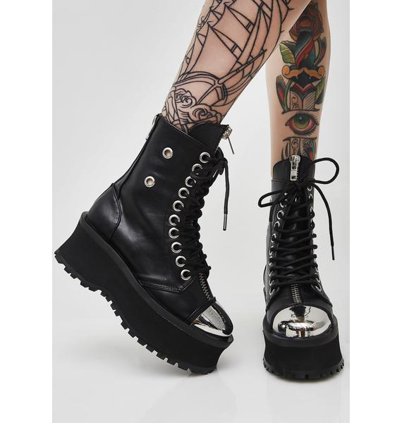 Demonia Gravedigger Combat Boots