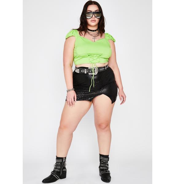 True Trendy Heaux Lace-Up Top