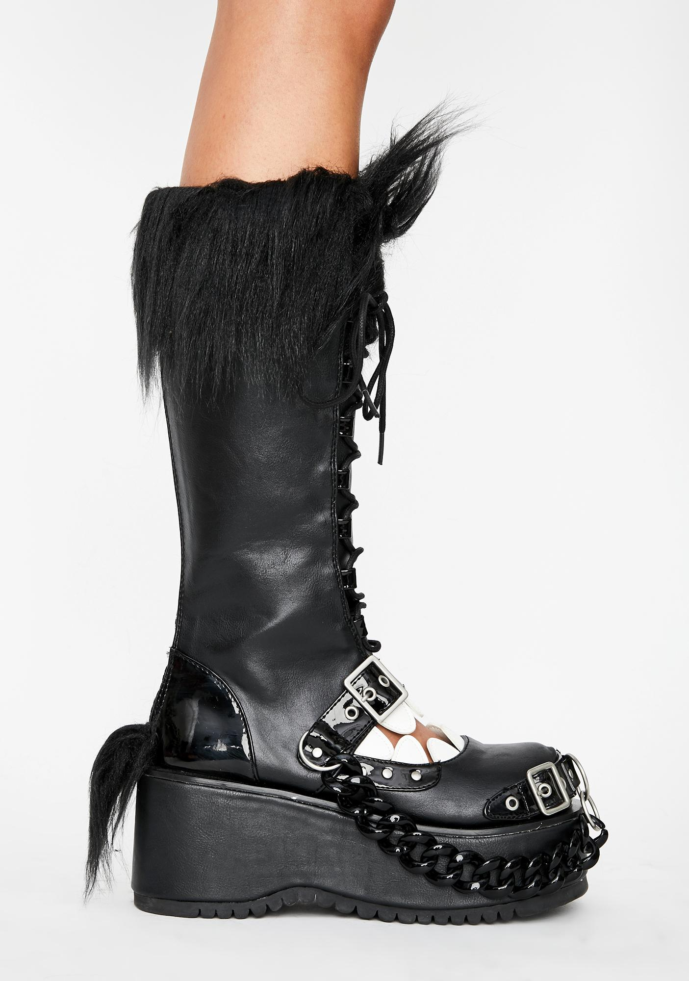 Demonia Shadow Lurker Knee High Boots
