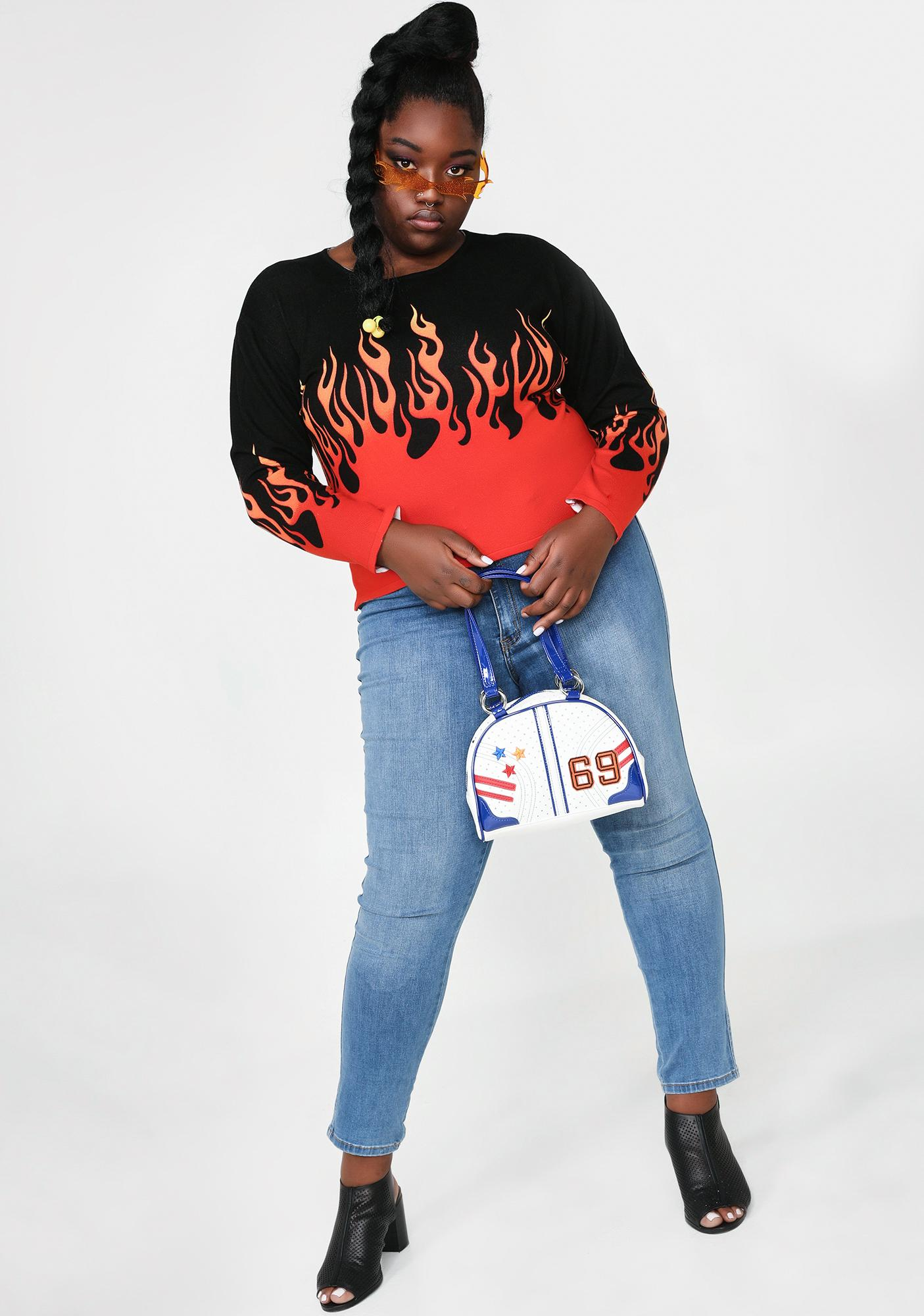 HOROSCOPEZ BB Blaze It Up Flame Sweater