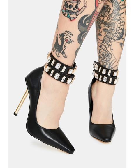Jazz Rhinestone Ankle Stiletto Heels