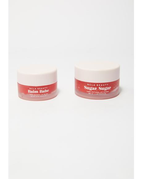 Sugar Sugar & Balm Babe Red Roses Lip Treatment Duo