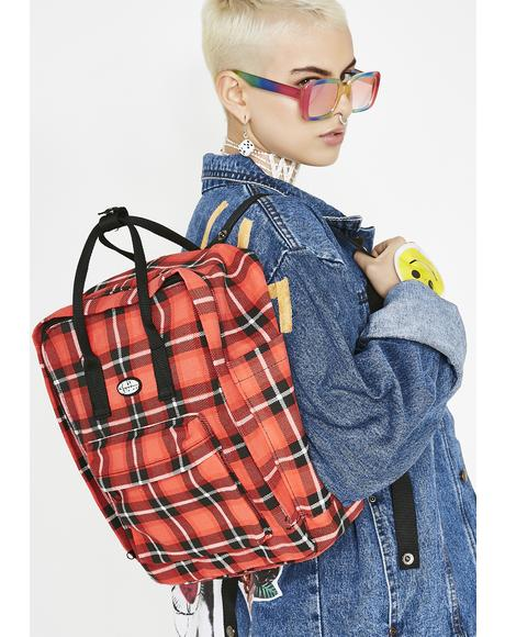 Blazed As If Plaid Backpack