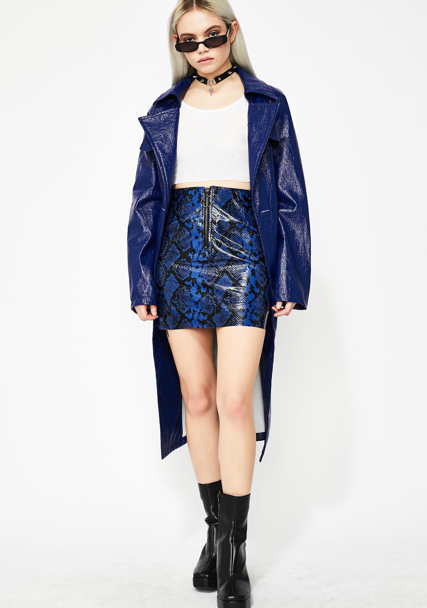 Cobalt Killa Snakeskin Skirt