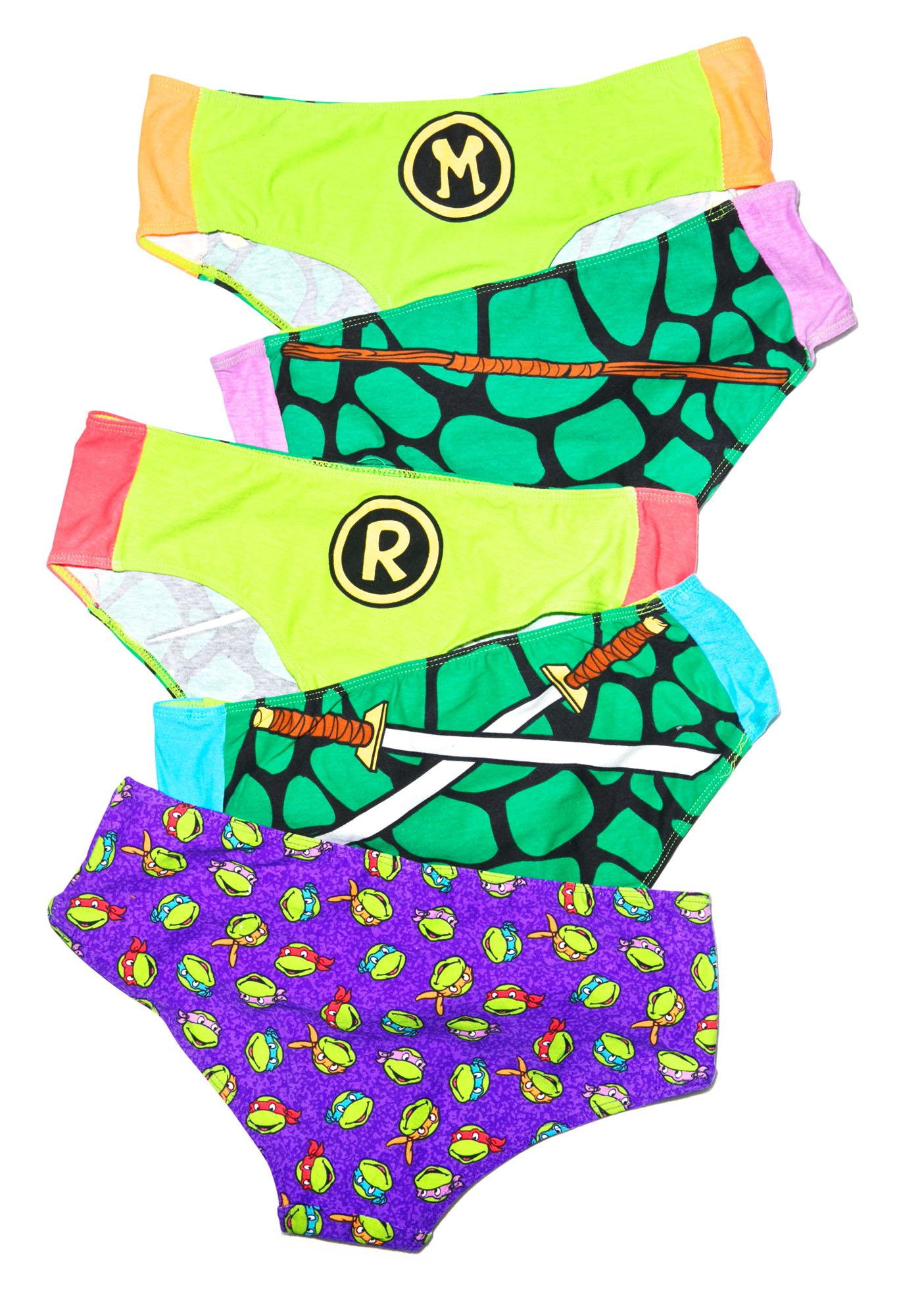 Undergirl Teenage Mutant Ninja Turtles 5 Pack Set