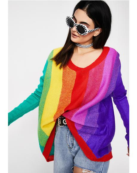 Loud N' Proud Rainbow Sweater