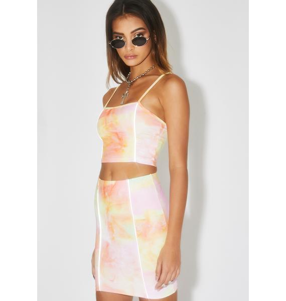 ZEMETA Candy Bloom Skirt Set
