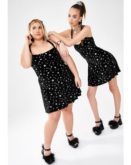 Celebrity Status Velvet Dress