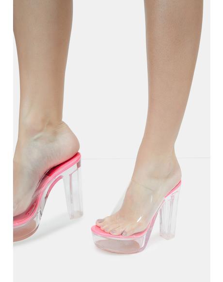 Pink Willanta Platform Heels