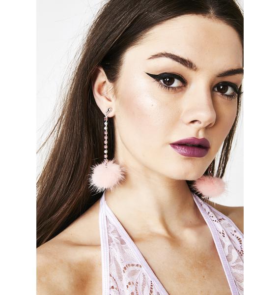 Angel Face Fuzzy Earrings
