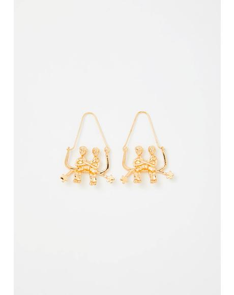 Genuine Gemini Drop Earrings