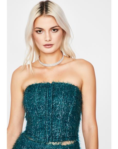 Jade Dance All Night Fringe Corset