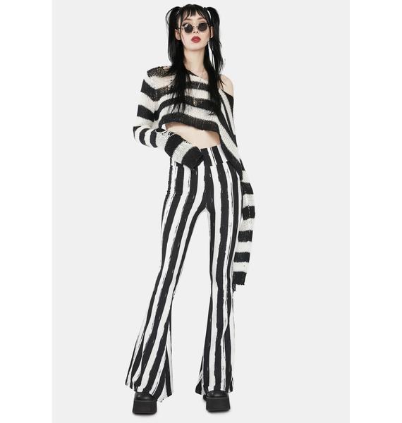 Too Fast Black and White Bellz Pants