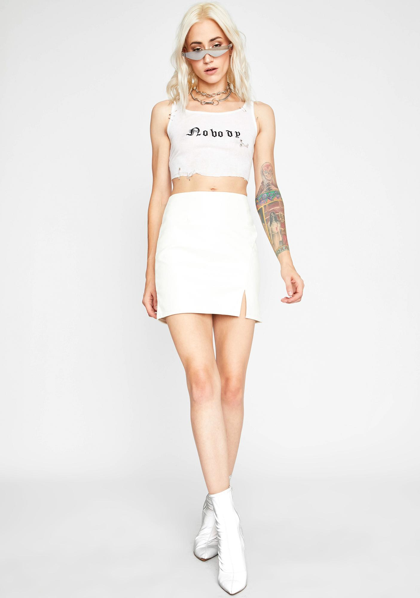 Lost Angel Vegan Leather Skirt