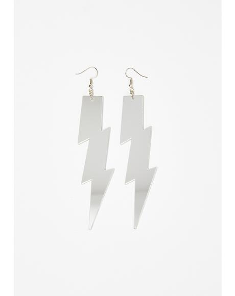 Thundershock Mirror Earrings