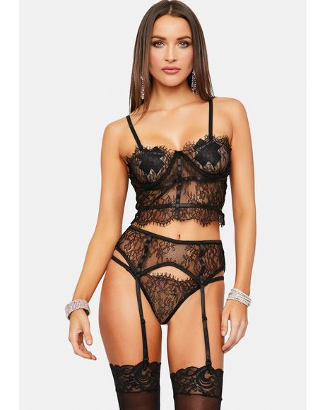 All My Love Lace Garter Set